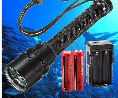UK 15000Lm 3x T6 LED Diving Flashlight Torcia underwater Subaquea luce 18650