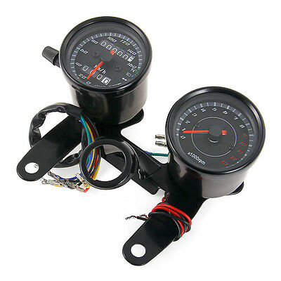 Universal Motorcycle Odometer Speedometer Tachometer Tacho Gauge LED Backlight