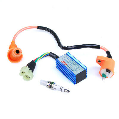 New Performance Racing CDI+ Ignition Coil+ Spark Plug  For GY6 50cc -150cc ATVs