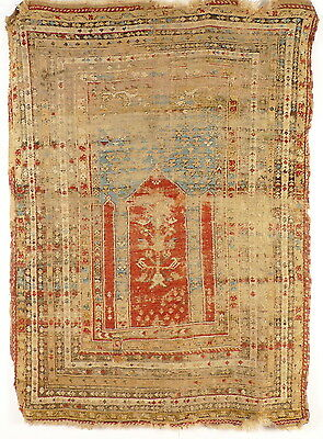 An Antique and rare Turkish Anatolian  Kula Prayer Rug, around 1800