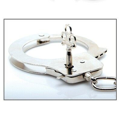 new sale Chain Toy Medium Quality Handcuffs Hand Cuffs Metal Chrome
