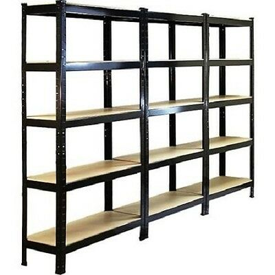 3 x Boltless Shelving 5 Tier Heavy Duty Rack Home Warehouse Shop Display Garage
