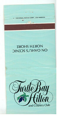 Match Book Cover Turtle Bay Hilton and Country Club North Shore Hawaii