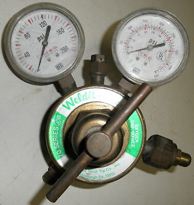 Compressed Gas Regulator with Gauges National Weldit 70 Series