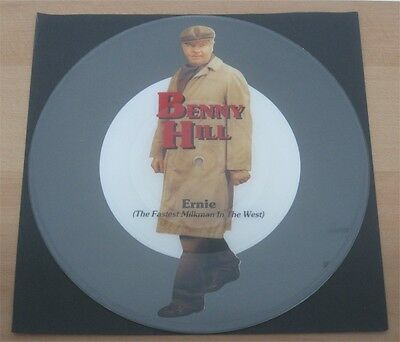 BENNY HILL: Ernie (the fastest milkman in the west) UNCUT Shaped Picture Disc