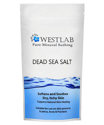 Westlab Dead Sea Salt 2kg Softens & Soothes Dry, Itchy Skin such as Eczema, Acne