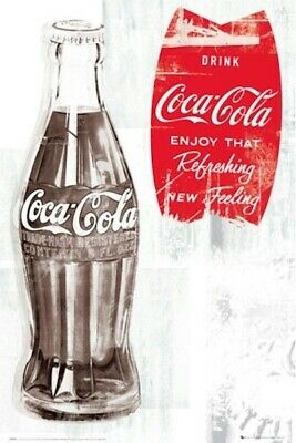 COCA COLA ~ ENJOY THAT REFRESHING FEELING ~ 24x36 COKE POSTER ~ NEW/ROLLED! Soda
