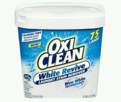 Oxi Clean White Revive Laundry Stain Remover Large 5 lb Tub
