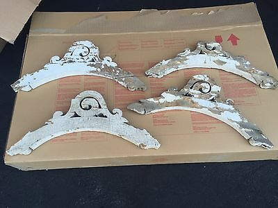 "C1880 set of 4 Victorian gingerbread fretwork porch brackets delicate 26.5"" X 8"""