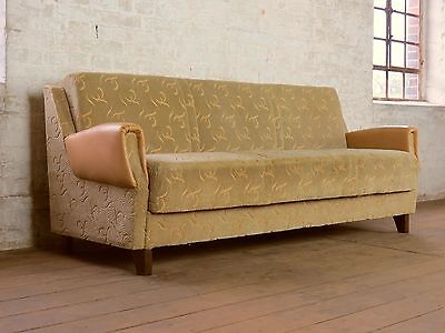 Mid Century Retro Club Sofa Daybed Chaise Bed Couch Vintage 60s 50s