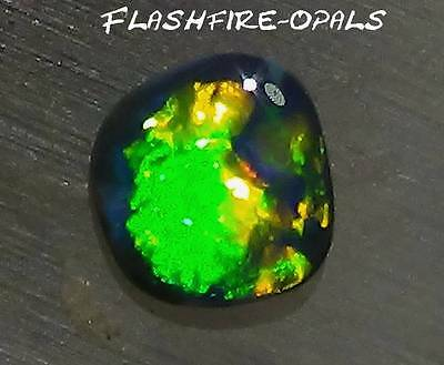 "GEM NOBBY OPAL ""RINGSTEIN"" BRILLIANZ 5 GRÜN GOLD ORANGE !! Video FLASHFIRE-OPALS"