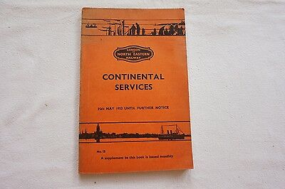 LNER Continental Services Railway Timetable 1933 London North Eastern Map