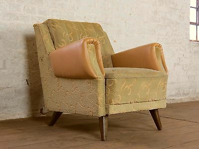 Mid Century Retro Cocktail Lounge Arm Chair Armchair Sessel Vintage 50s 60s