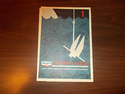 1968 Mobil Cruising Guide Eastport, ME to Barnegat Inlet, NJ Vintage Map