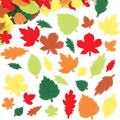 Leaf Felt Stickers for Kid's Autumn Craft Activities(Pack of 144)