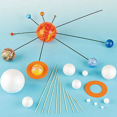 Make Your Own Solar System Kit, Children's Educational Craft (Pack of 2)
