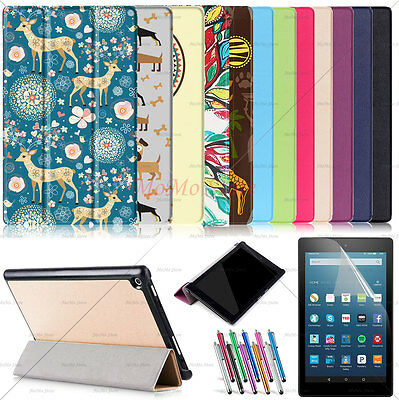 Amazon Kindle Fire HD Stand Smart Case Ultra Slim Trifold PU Leather Case Cover