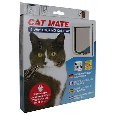 PET MATE Chatiere 4 positions 309W - Blanc - Pour chat - ROSEWOOD  NEUF