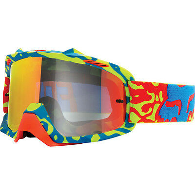 Fox Airspc Youth Dirt Goggles Cauz Yellow Red Frame Clear Lens