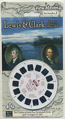 LEWIS and CLARK Trail of Discovery 1804 - 1806 View-Master Set 2 Sealed Mint