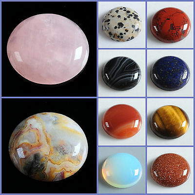Wholesale 25mm Round cabochon CAB flatback semi-precious gemstone Save $ in bulk