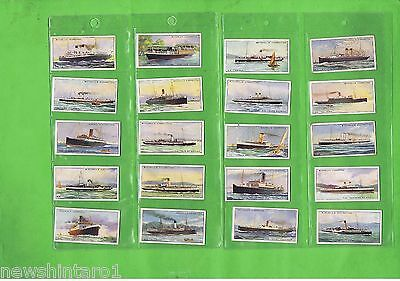 #d148.  1925  Shipping  Cigarette Cards - River & Coastal Steamers