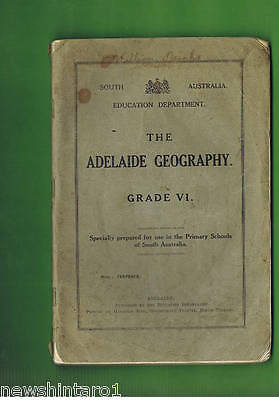 #t13.  1928  South Australia Education Geography Primary School  Book