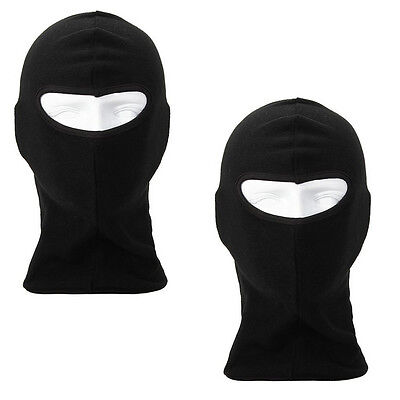 2 Black Thermal Balaclava Bike Motorcycle Motorbike Helmet Face Mask Neck Warmer