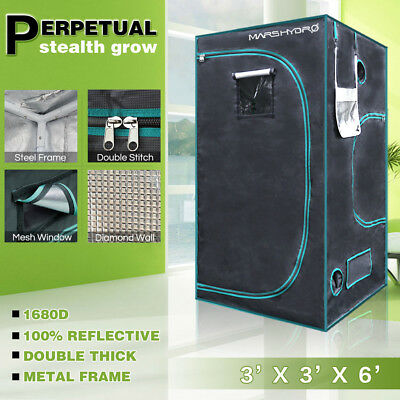 "MarsHydro 39""x39""x70"" Indoor Grow Tent Reflective Mylar Hydroponic Home Box Room"