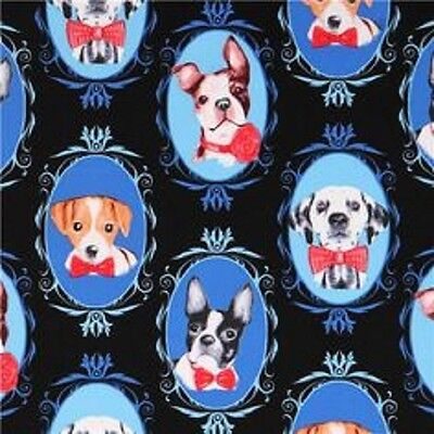 DOG CRAFT FABRIC LONDON BRIDGE DOGS BY THE FQ 1 METRE GREAT FABRIC 1//2 METRE