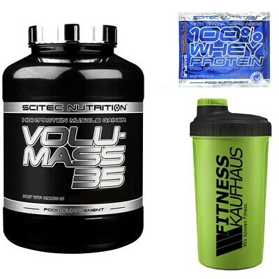 (65,64 EUR/kg) Scitec Nutrition Volumass 35 2950g Weight Gainer + Shaker + Probe