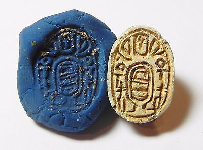 Zurqieh -Af848- Ancient Egypt , 2Nd Intermediate Stone Scarab. 1782 - 1570 B.c