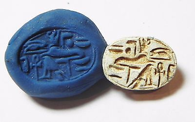 Zurqieh -Af849- Ancient Egypt , 2Nd Intermediate Stone Scarab. 1782 - 1570 B.c