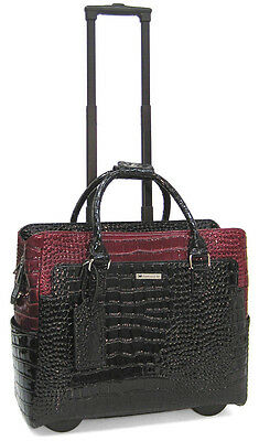 Cabrelli Rollerbriefs Women's Wheeled Laptop Briefcase - Portia Patent Red