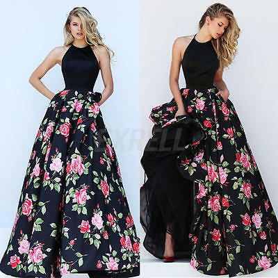 Sexy Women Backless Prom Ball Cocktail Party Long Dress Formal Evening Gown