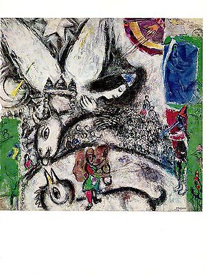 """PAQUES/"""" FABULOUS COLOR offset Lithograph 1972 Vintage MARC CHAGALL /""""EASTER"""