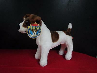 NEW! Melissa and Doug Jack Russell Terrier Dog Giant Plush Stuffed Animal Toy