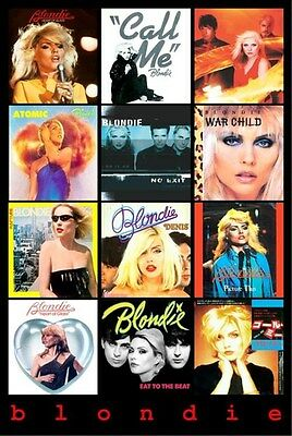 BLONDIE ~ ALBUM COVERS COLLAGE ~ 24x36 MUSIC POSTER ~ NEW/ROLLED! Debbie Harry