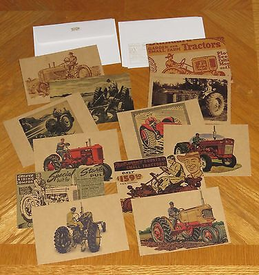 Farm Tractors Case IH International Harvester Assorted Postcard Collection 12ct