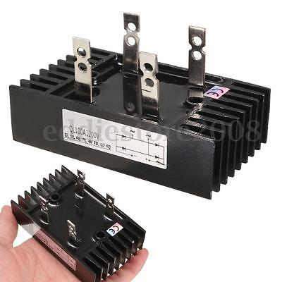 1Pcs QL100A Single Phase Bridge Rectifier Black 100A 1200V 100x60x56mm