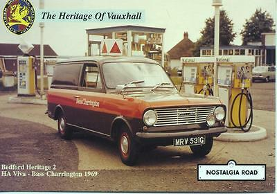 1969 Bedford HA Viva Van Bass Charrington livery unused Nostalgia Road postcard