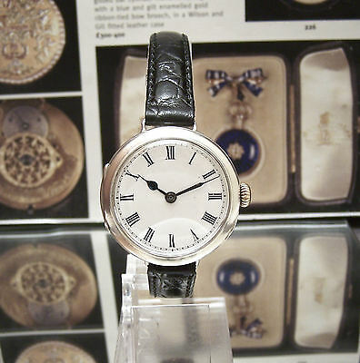 Antique Silver Rolex Rebberg 1915 Ww1 Officers Military Trench Watch Nice Dial