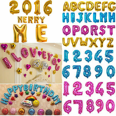 "16"" Optional Foil Letter A-Z/0-9 Ballons Party Birthday Wedding Decoration"