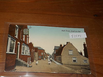 Old   postcard our ref #53571 HIGH STREET LEIGH ON SEA 1917
