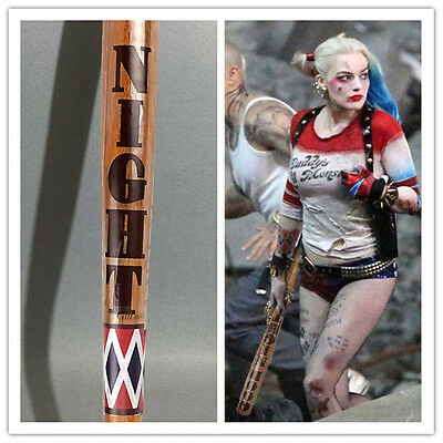 "32"" Wooden Baseball Bat Halloween Cosplay For DC Suicide Squad Harley Quinn"