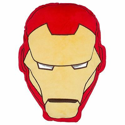 Official Licenced Marvel Avengers Iron Man Shaped head Cushion Tony Stark