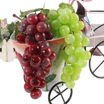 Bouquet Réaliste Artificiel 36 Grappes De Raisin Plastique Fausse Fruit Rubberiz