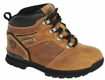 Timberland Splitrock 2 Hiker Youths Boots Kids Shoes Brown Leather A127J D65