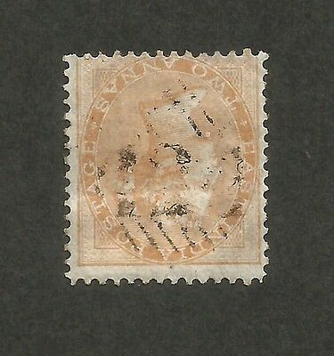 India used in ADEN QV 1856 2as canc 124 numerals