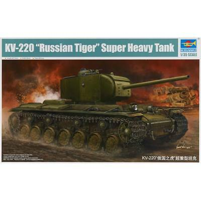 NEW Trumpeter 1/35 KV220 Russian Tiger Super Heavy Tank 5553